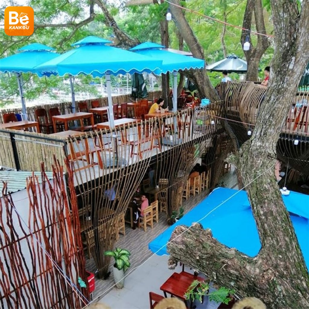 カントー(Can Tho)での不思議な木上のコーヒーショップ-17