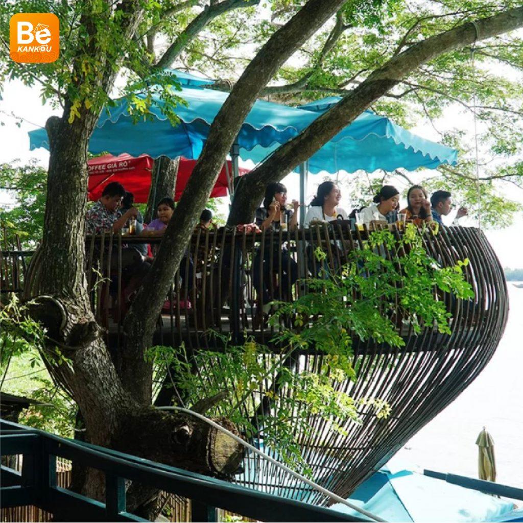 カントー(Can Tho)での不思議な木上のコーヒーショップ-11