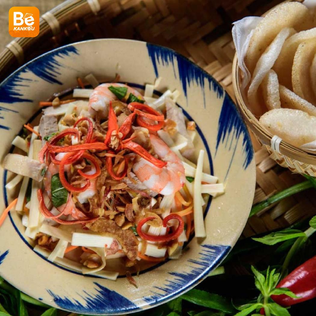 サイゴン市場での14年に販売している蓮の茎のサラダ屋台-09