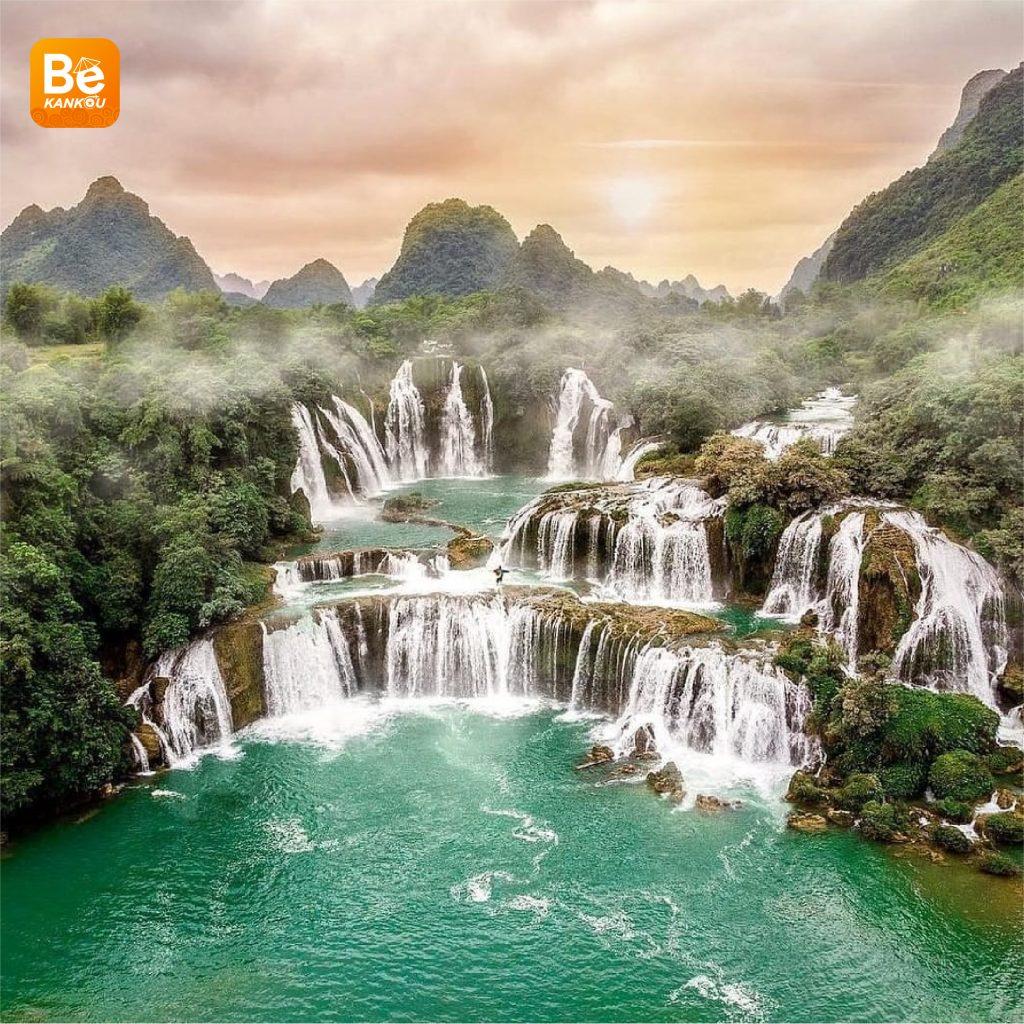 多くの興味深い活動を伴う特別なバンゾック(Thac Ban Gioc)滝祭り1