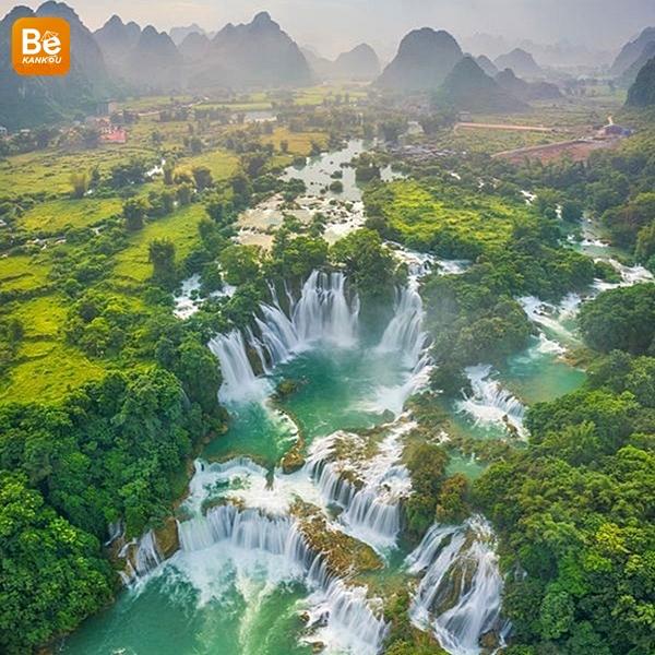 空から見たベトナムの風景
